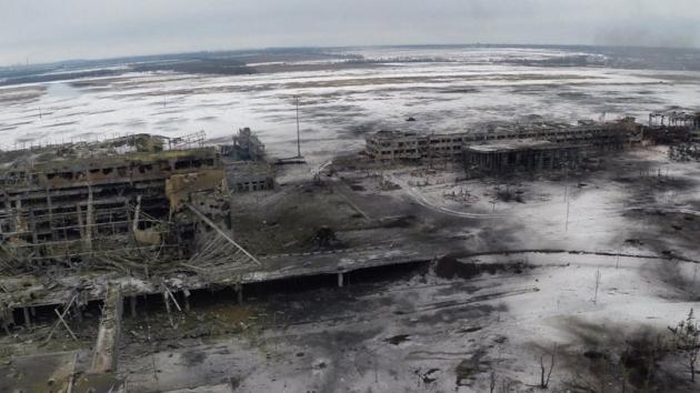 Когда-то это был Донецкий аэропорт. Фото с высоты полета беспилотника