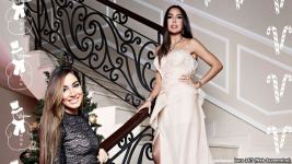 1.Лейла и Арзу Алиевы на фотосессии.