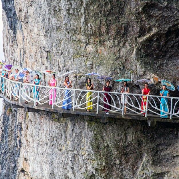 Опасный мостик в Китае