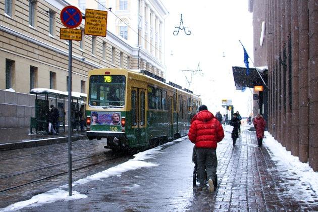 Финляндия отапливаемые тротуары Фото А. Ловчикова