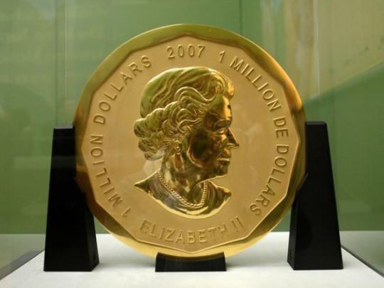 В Германии украли золотую 100-кг монету, принадлежащую украинскому бизнесмену